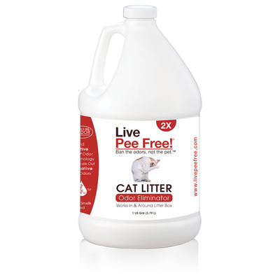 Live Pee Free!® Cat Litter Odor Eliminator 2X - 1 Gallon