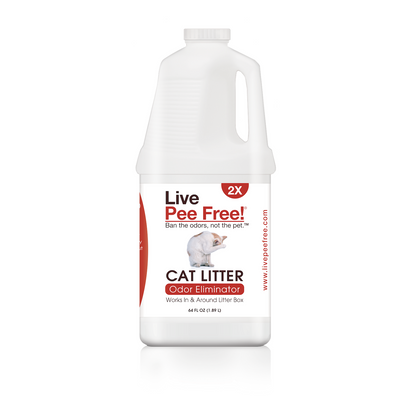 Live Pee Free!® Cat Litter Odor Eliminator 2X - 64 oz.