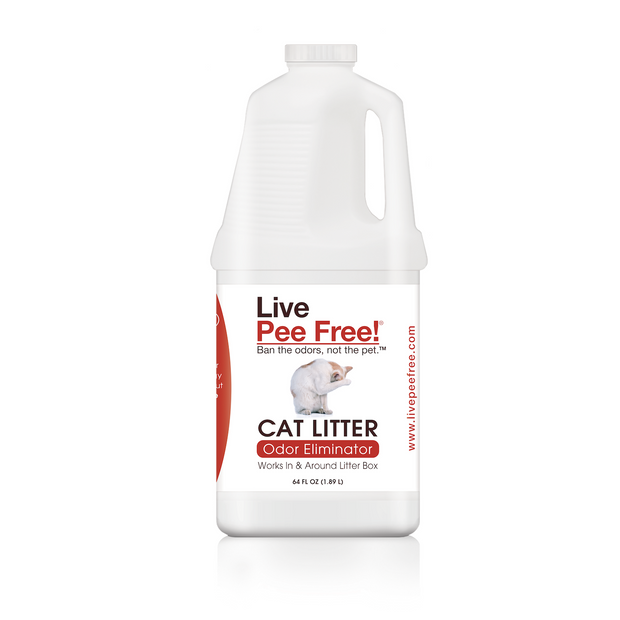 Live Pee Free!® Cat Litter Odor Eliminator - #1 Seller - 64 oz.