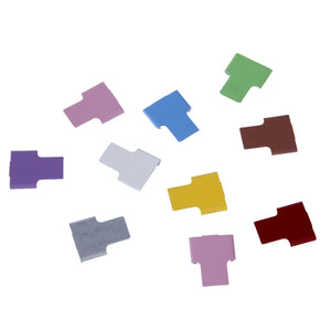 Aluminium Cryo ID tabs, for cryo storage canes, regularly used for cryopreservation of oocytes, embryos and sperm.