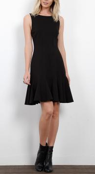 Three Dots Ponte Fit and Flare Seamed Dress