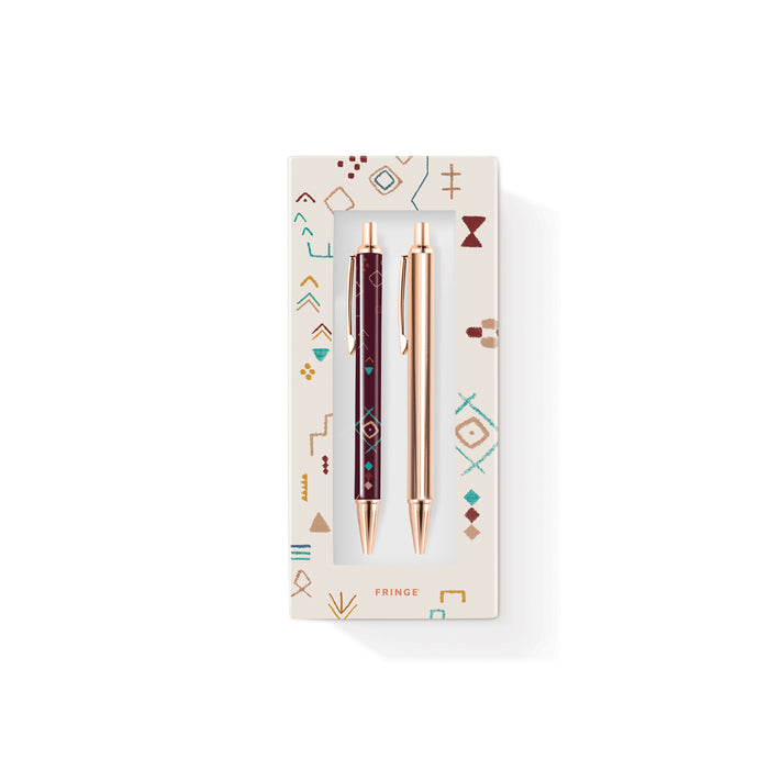 FRINGE STUDIO TRIBAL MARKS PEN & PENCIL SET
