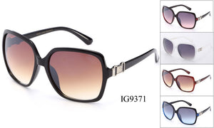Womens Wholesale Fashionable Plastic Oversized Lens Sunglasses 1 Dozen IG9371 - BuyWholesaleSunglasses.com