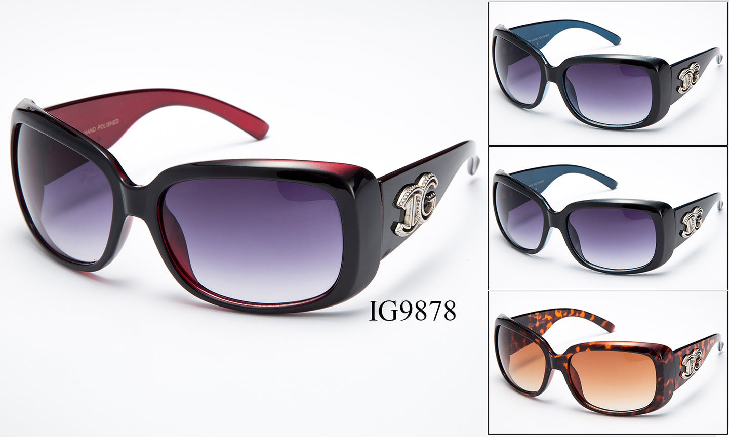 Womens Wholesale Fashionable Plastic Thick Armband Sunglasses 1 Dozen IG9878 - BuyWholesaleSunglasses.com