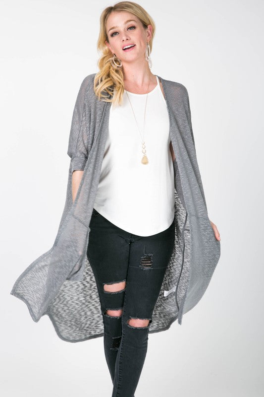 Grey Light Knit Cardigan