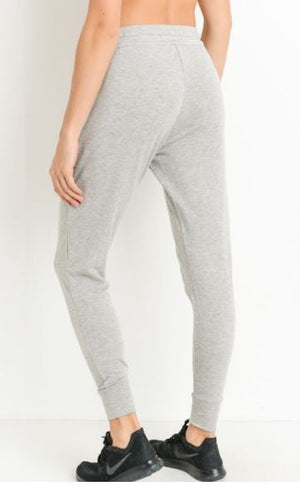 Grey Tapered Drawstring Sweatpants