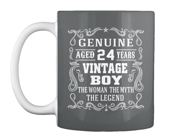 GENUINE AGED 24 YEARS - VINTAGE BOY MUG