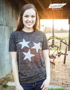 Tristar Statement Tee with Grey Stars