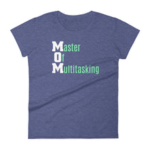 Load image into Gallery viewer, Mom - Master of Multitasking Women's short sleeve t-shirt-T-Shirt-PureDesignTees