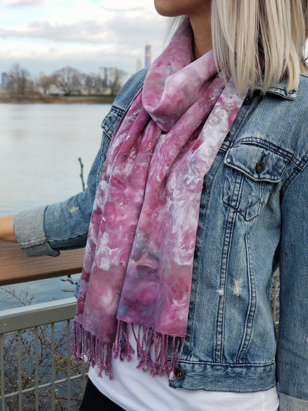 Oversized scarf (Cotton candy clouds)