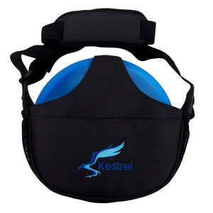 Kestrel Outdoors Black Kestrel WeekDay Disc Golf Bag | Fits 5-7 Discs | For Beginner and Advanced Disc Golf Players