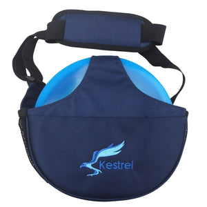 Kestrel Outdoors Blue Kestrel WeekDay Disc Golf Bag | Fits 5-7 Discs | For Beginner and Advanced Disc Golf Players