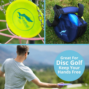 Kestrel Outdoors Midnight Gray Kestrel WeekDay Disc Golf Bag | Fits 5-7 Discs | For Beginner and Advanced Disc Golf Players