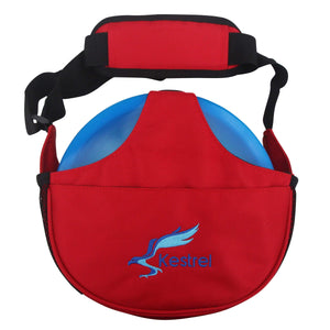 Kestrel Outdoors Red Kestrel WeekDay Disc Golf Bag | Fits 5-7 Discs | For Beginner and Advanced Disc Golf Players