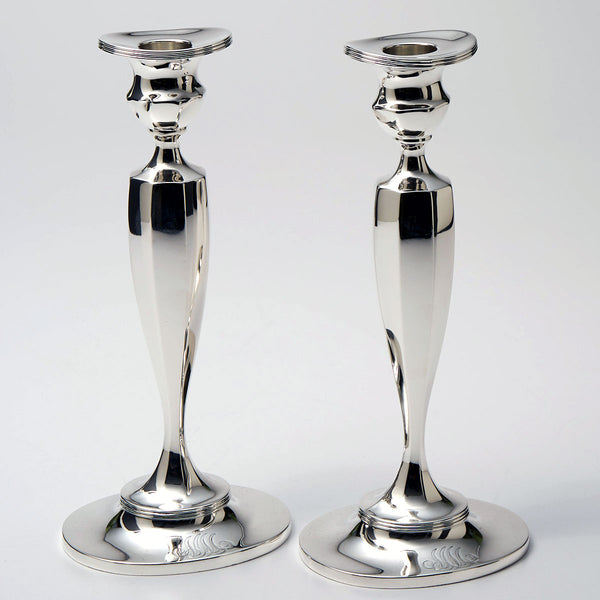 "Sterling Candlesticks 9-1/2"" height Mfg by Bailey Banks & Biddle"