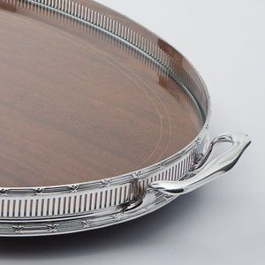 English Silver Plated Gallery Tray Border