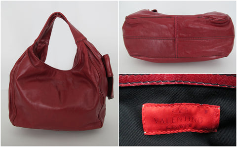 Valentino Red Leather Bow Bag