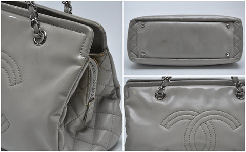 Chanel Patent Grey Handbag - Glampot