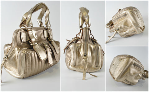 Metallic Gold Bay Bag