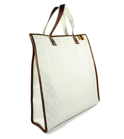 Medium Tote With Signature Web Loop in White 233081 204990
