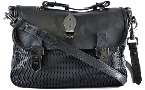 Mulberry Tillie Mesh Leather/Suede Bag In Black 1421225