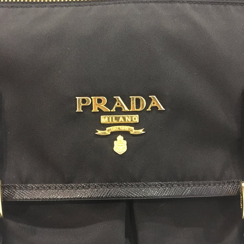 Prada Black Nylon and Leather Medium Messenger Bag BT0687