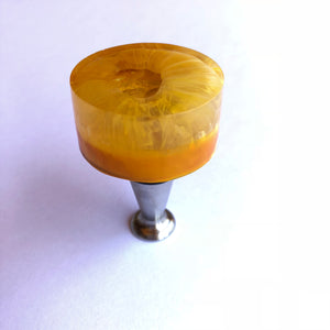Handcrafted Bottle Stopper: Yellow Donut