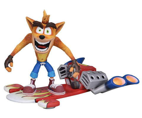 CRASH BANDICOOT WITH HOVERBOARD ACTION FIGURES 14 CM NECA