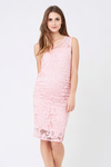 Ripe Maternity Eden Lace Dress - Soft Pink