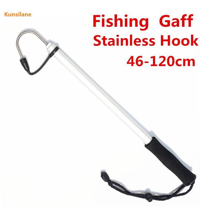 120Cm Spear Hook Telescopic Sea Fishing Gaff With Marine Grade Stainless Steel-Fishing Gaffs-Bargain Bait Box-Bargain Bait Box