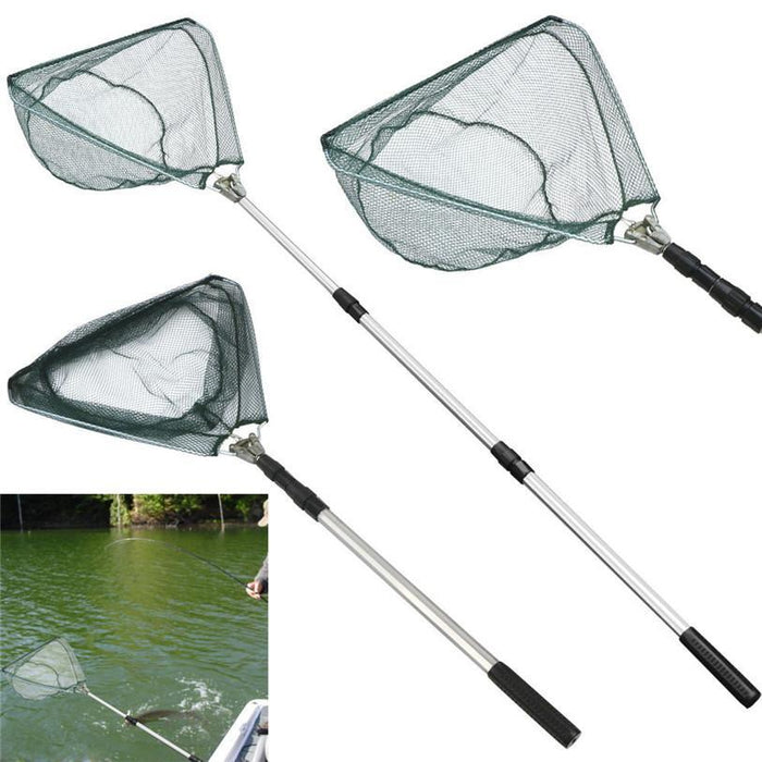Safe Catch And Release Fish Landing Net Telescoping Handle Foldable Hoop-Fishing Nets-Bargain Bait Box-Bargain Bait Box