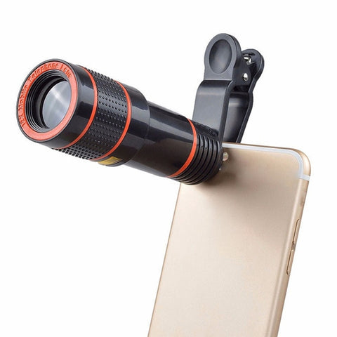 Clip-on 12x Zoom Universal Mobile Phone Telescope Camera Lens HD iPhone Samsung