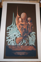 Aaron Horkey Genghis Tron Board Up the House Poster S/N Artist Edition