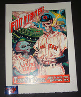 AJ Masthay Foo Fighters Poster Boston Fenway Park 2018 Artist Edition