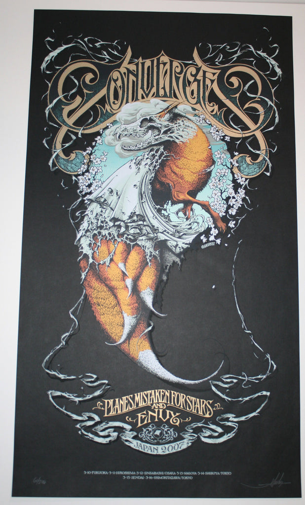 Aaron Horkey Converge Poster Japan Black Variant 2007 Artist Edition