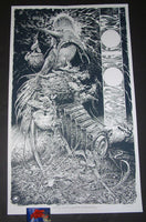 Aaron Horkey Neurosis Converge Tour Poster Blue Variant 2018