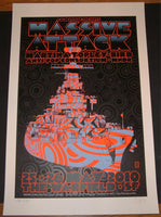 Chuck Sperry Chris Shaw Massive Attack San Francisco Poster S/N