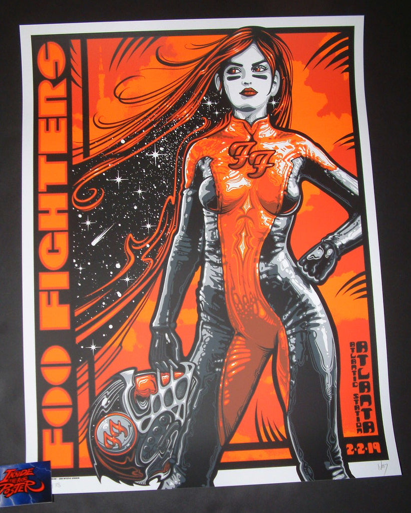 Jeff Wood Foo Fighters Atlanta Poster Artist Edition 2019 Super Bowl