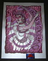 Jim Mazza Queens of the Stone Age Poster San Diego 2018 Pearlescent Silver Night Two