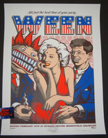 Justin Hampton Ween Poster Broomfield 2016 Color Test Doodled