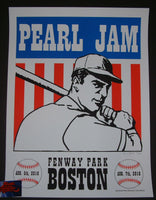 Kevin Shuss Pearl Jam Poster Boston Fenway Park 2016 Artist Edition