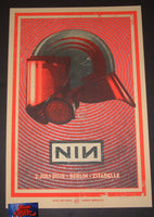 Lars Krause Nine Inch Nails Poster Berlin Germany Grey Helmet Variant 2018 Artist Edition