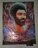 Miles Tsang Childish Gambino Paris Poster Fire Fly Foil Variant 2019