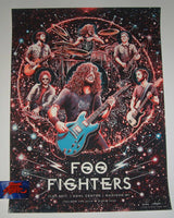 Miles Tsang Foo Fighters Poster Madison 2017 Artist Proof