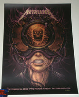 N C Winters Metallica Pittsburgh Poster Gold Foil Variant Artist Edition 2018