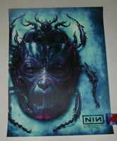 N. C. Winters Nine Inch Nails Chicago Poster Amethyst Variant Artist Edition 2018