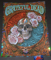 N. C. NC Winters Grateful Dead Poster Swirl Foil Variant 2018