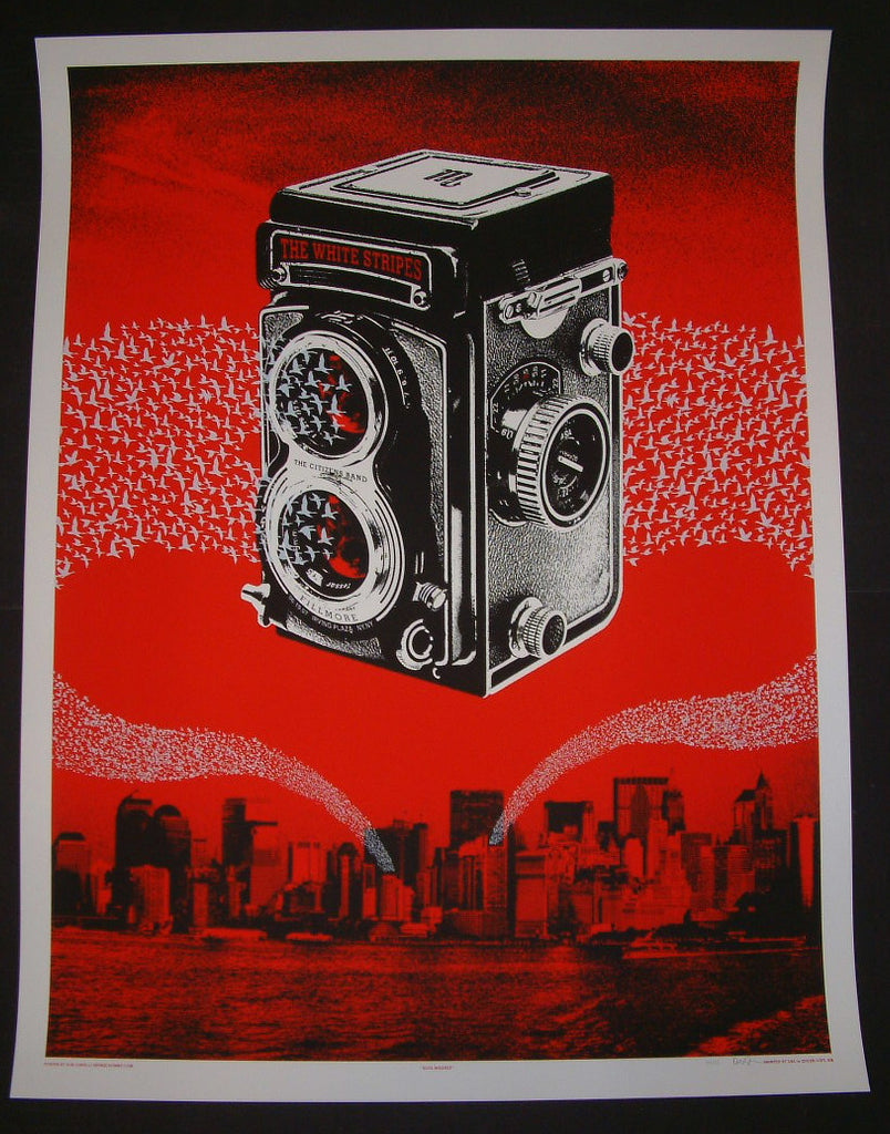 Rob Jones The White Stripes Poster New York 2007 Artist Edition S/N