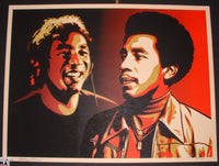 Shepard Fairey Smokey Robinson Era 50 Years of Music Print Red S/N 2010 COA