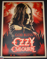 Shepard Fairey God Bless Ozzy Osbourne Movie Poster 2011 S/N